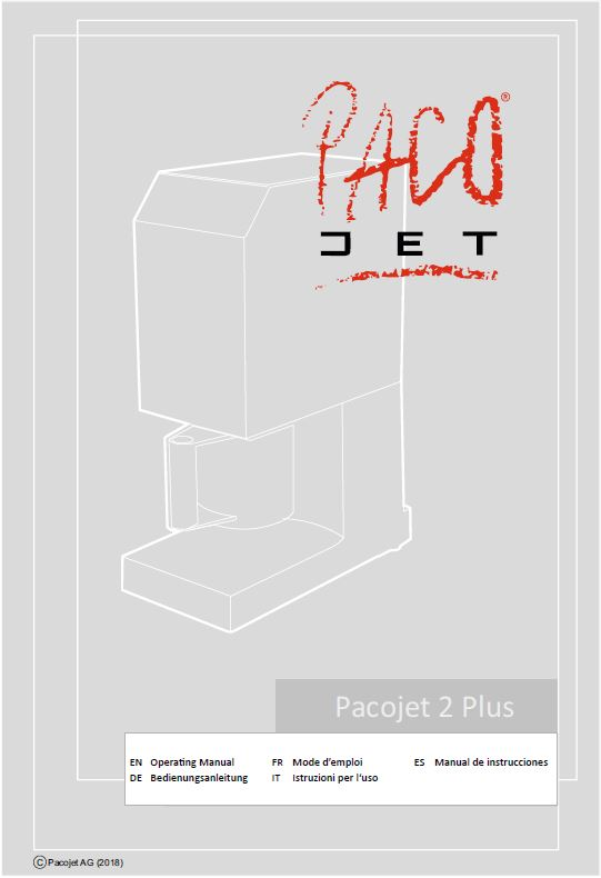 Product Specifications Pacojet 2 PLUS