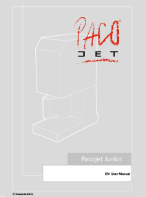 Pacojet Junior<br />(EN-US)